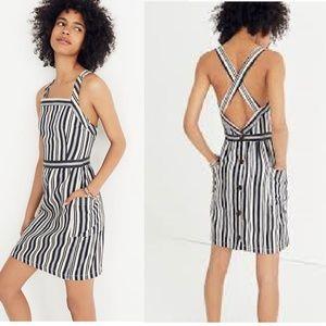 Madewell | Apron Mini Dress in Evelyn Strip